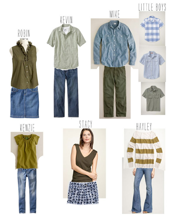 how to pick outfits for family portraits final product the tiny